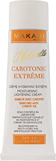 Makari Naturalle Carotonic Extreme Lightening FACE Cream 1.7oz – Moisturizing & Toning Cream with Carrot Oil & SPF 15 – Anti-Aging & Whitening Treatment for Dark Spots, Acne Scars & Wrinkles