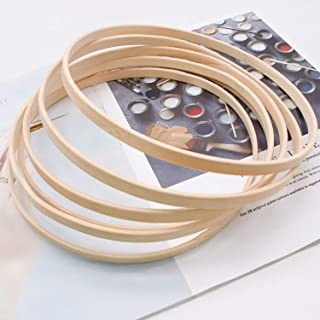 JETEHO 6pcs Bamboo Rings Hoops Craft Metal Hoops for Dream Catcher and Crafts (8 Inch)