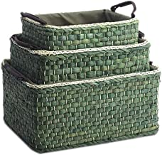 Laundry Basket Storage Box, Collapsible/Clothing Storage Basket Bins Toy Box Organizer. (Color : Green, Size : Suit)