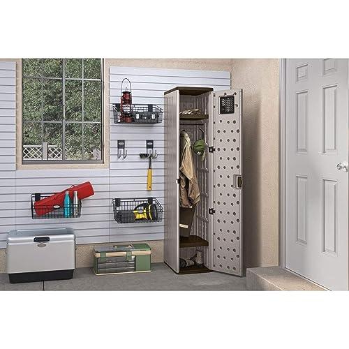 Plastic Storage Cabinet with Doors: Amazon com