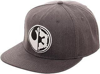 san francisco 55ca5 d2585 Embroidered Star Wars Split Logo Rebel Imperial Flatbill Flex Cap -  Baseball Cap Snapback Black