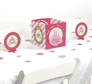 Big Dot of Happiness Little Princess Crown - Pink and Gold Princess Baby Shower or Birthday Party Centerpiece & Table Decoration Kit