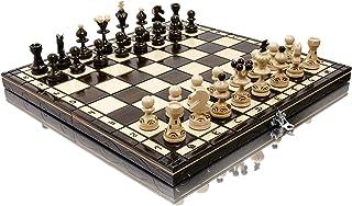 Häpnadsväckande PEARL 35cm / 13,8in populär europeisk träschackuppsättning! Handgjorda bitar och schackbräde av Master Of ...