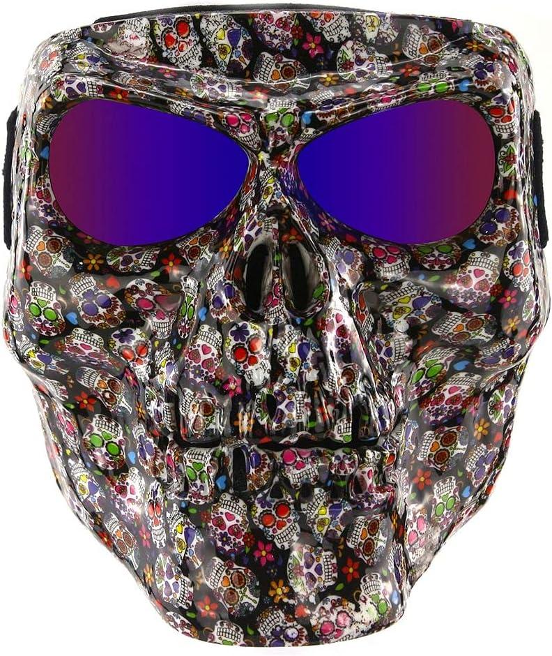 BOROLA Polarized Lens Spooky Skull Face Sandproof Mask for Motor