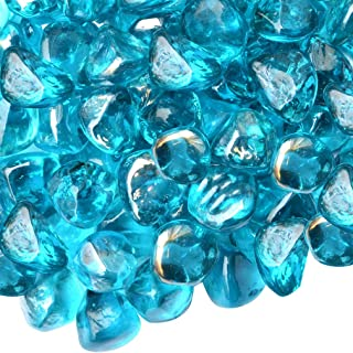 turquoise fire glass