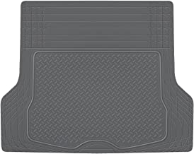 BDK MT785GRAMw1 Cargo Floor Mat (HeavyDuty, Weather Trunk Protection, Trimmable to Fit & Durable HD Rubber (Gray))