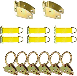 DC Cargo Mall E Track Tie-Down Kit - 14 Pieces: E-Track Accessories | Includes O-Rings, Rope Tie-Offs, and Wood Beam End S...