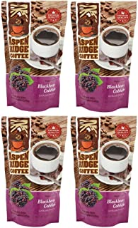 ASPEN RIDGE COFFEE MEDIUM ROAST, BLACKBERRY COBBLER 12 OZ. (4 pack)