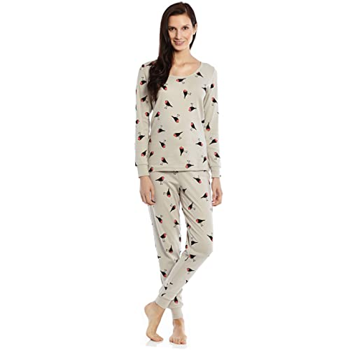 b34cdc8d40 Leveret Women s Pajamas Fitted Printed Owl 2 Piece Pjs Set 100% Cotton  Sleep Pants Sleepwear
