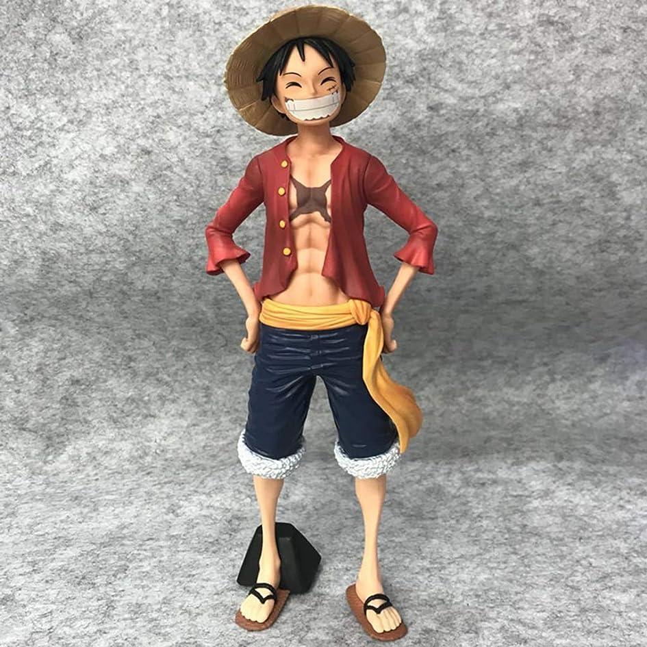 ギターちょうつがいジャニスPVCアニメワンピースモデル、アニメの像、子供のおもちゃのコレクションの像、デスクトップの装飾玩具像のおもちゃモデル麦わら帽子ルフィ(17cm) JSFQ