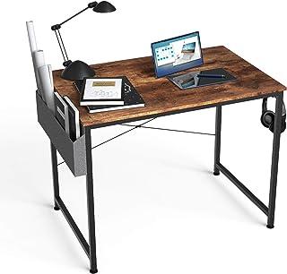 HOMIDEC Bureau d'ordinateur - 80 x 60 x 75 cm - Petit bureau avec sac de rangement et support pour casque - Table de trava...