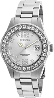 Invicta Women's Pro Diver 38mm Stainless Steel, Crystal Accented Quartz Watch, Silver (Model: 21396)