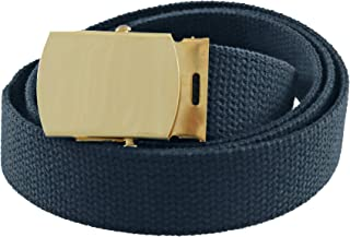 Canvas Web Belt Cargo Cotton Military Buckle Made in USA