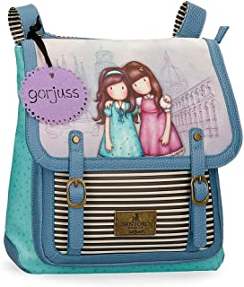 Gorjuss Mochila con Bandolera Friends Walk Together, Morado, 30x29x8 cm