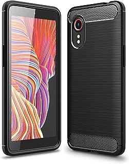 GOKEN Coque pour Samsung Galaxy Xcover 5, Fibre de Carbone Silicone en Gel Antichoc Housse Protection Étui, TPU Bumper Pro...