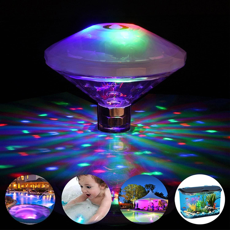Estanque luces de agua lámpara multicolor piscina luces con 7 modos de iluminación impermeable