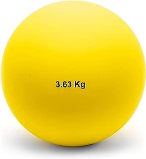 Crown Sporting Goods 3.63 Kg (8lbs) Indoor Shot Put Ball - Indoor Track & Field Quality Shot Put Ball for Indoor Practice & Weight Training for Men & Women