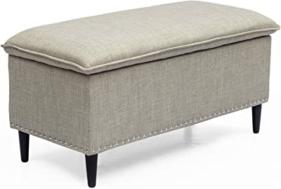 Amazon Com Cheer Collection 17 Quot Round Ottoman Super