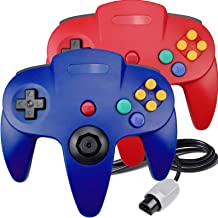 $25 » 2 Packs N64 Controller, King Smart Wired N64 Controllers with Upgraded Joystick for Original Nintendo 64 Console (Blue and...