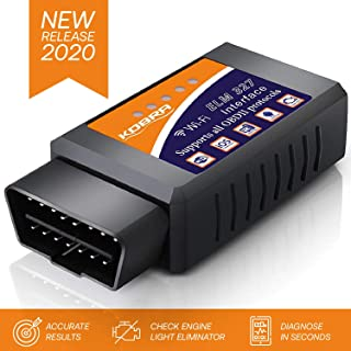 OBD2 Scanner & WiFi Car Code Reader – Clears Check Engine Lights Instantly – Diagnose 3000 Car Codes - Wireless Car Diagnostic Scanner – Auto Scanner for 1996+ Vehicles (iOS & Android Devices Only)