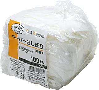 クリンプ 市場 ペーパーおしぼり 平判 100枚入 DR-382