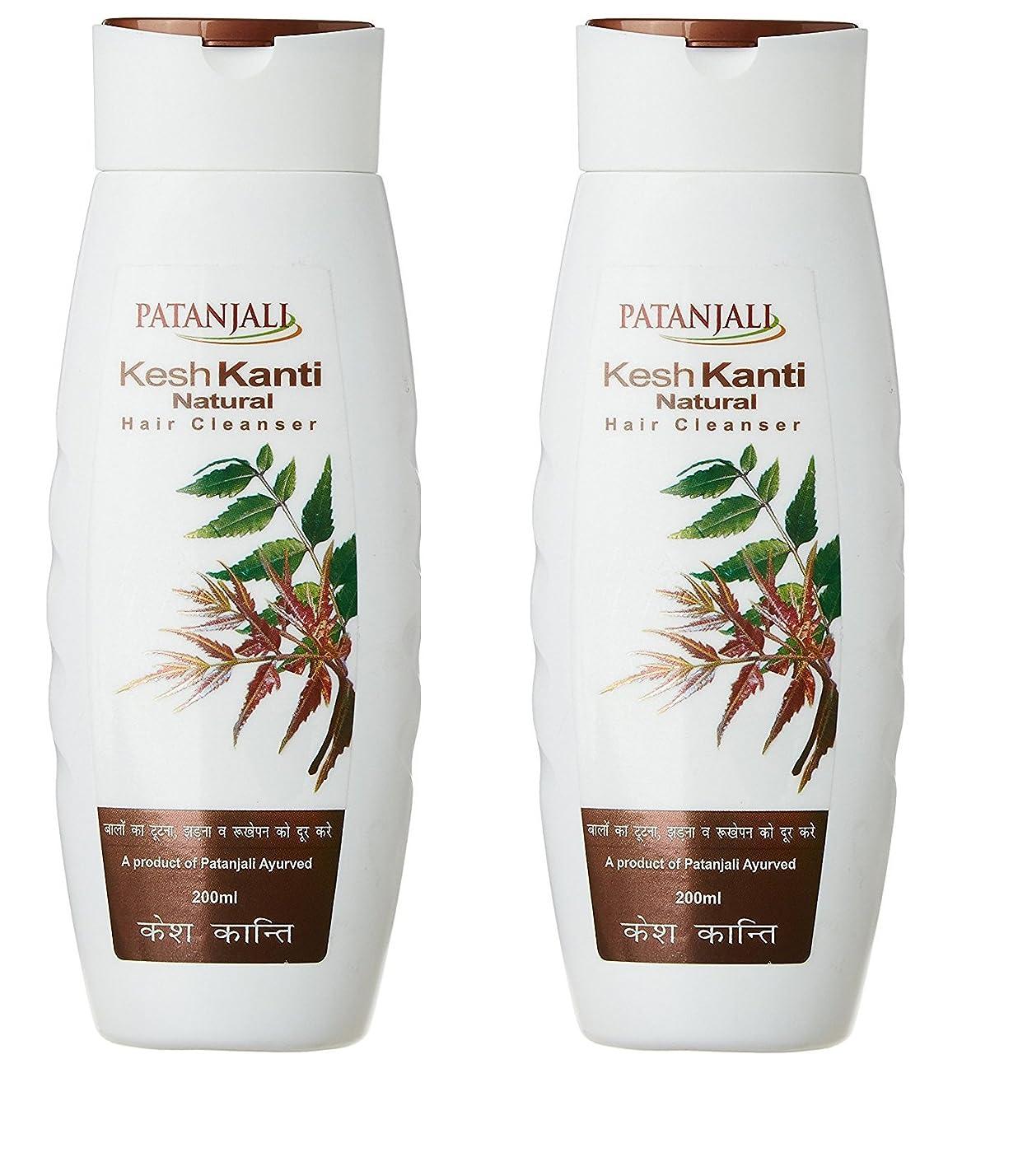 挑発する促進する日食Patanjali Kesh Kanti Natural Hair Cleanser Shampoo, 200ml (Pack of 2)