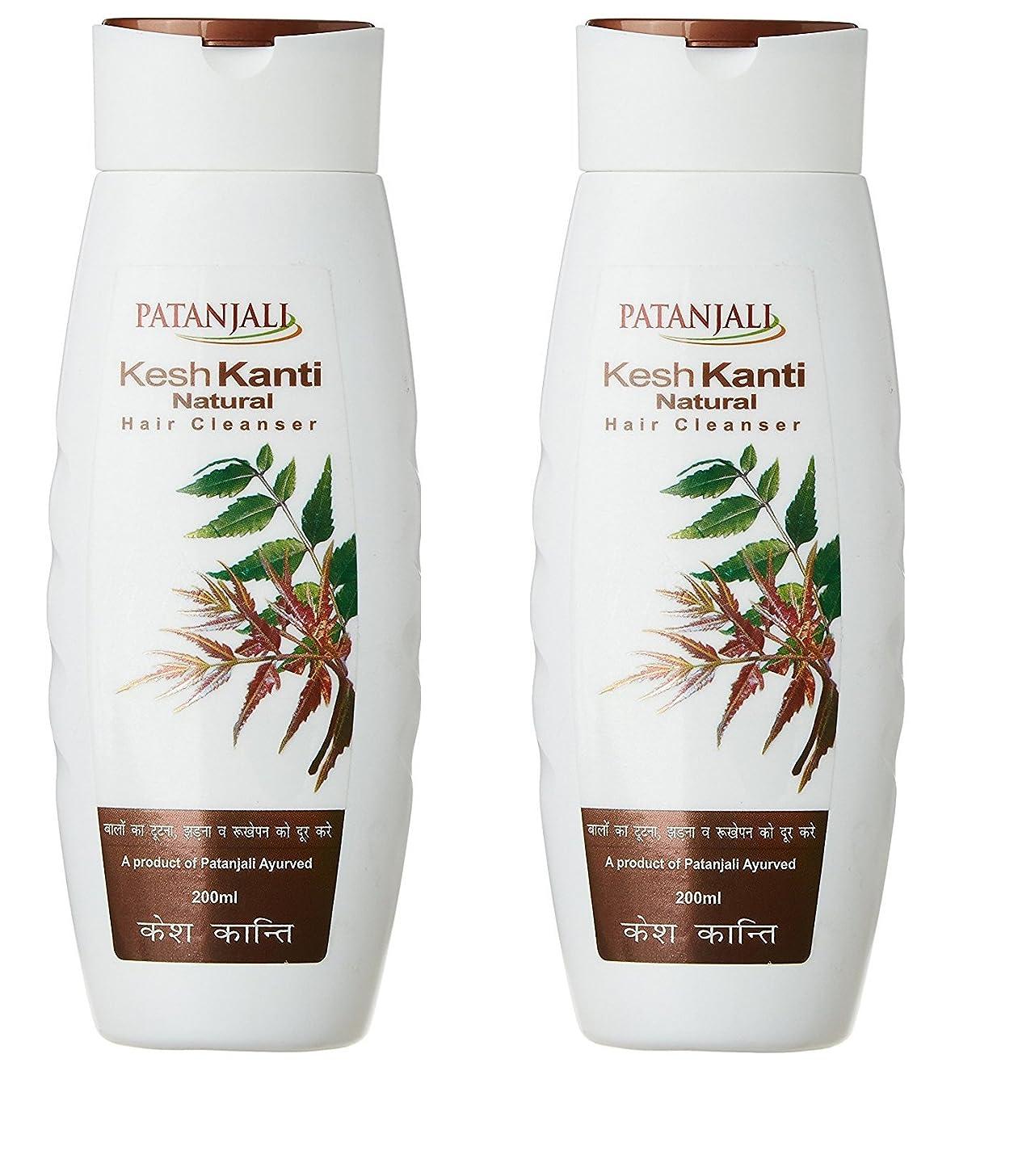 酸素急ぐマトンPatanjali Kesh Kanti Natural Hair Cleanser Shampoo, 200ml (Pack of 2)