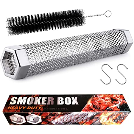 Smoke Tube - 12 inches Smoke Tube for Pellet Grill 5 Hours of Billowing Smoke, Pellet Smoker Tube for All Grill or Smoker, Hot or Cold Smoking