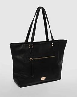 Black Lulu Slouch Tote Bag