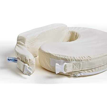 My Brest Friend Original Nursing Posture Pillow With Organic Cotton Slipcover, Cream
