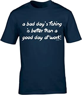 123t Men's A Bad Day Fish Fishing T Shirt