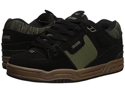 Globe Fusion (Black Action Nubuck/Olive Synthetic Nubuck) Men