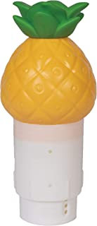 GAME 12427-BB Solar Light Up Pineapple Chlorinator Pool Chemical Dispenser, for Up to Five 3-inch Tabs, Yellow