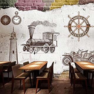 Papel Pintado Mural No Tejido Xxl Salón De Moda Europea Y Americana Sofá Papel Simple Cafetería Tienda De Té De Comida Rápida 3D Fotomurales