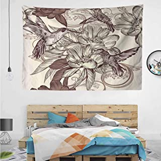 HuaWuChou Bird Flowers Pattern Tapestry DIY, Wall Hanging for Bedroom Living Room Dorm, 10W x 8L Inches
