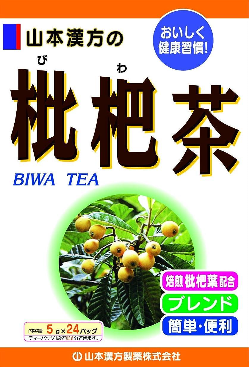 ヒョウ研磨剤知り合い山本漢方製薬 枇杷茶 5gX24H
