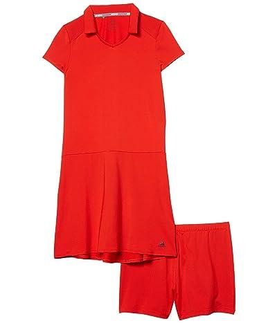 adidas Golf Kids Ruffled Dress (Little Kids/Big Kids) (Red) Girl