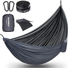 Overmont Dubbele Lagen Camping Hangmat Duits TUV Certificated Draagbare Outdoor Hangmat Lichtgewicht voor Backpacken Wande...