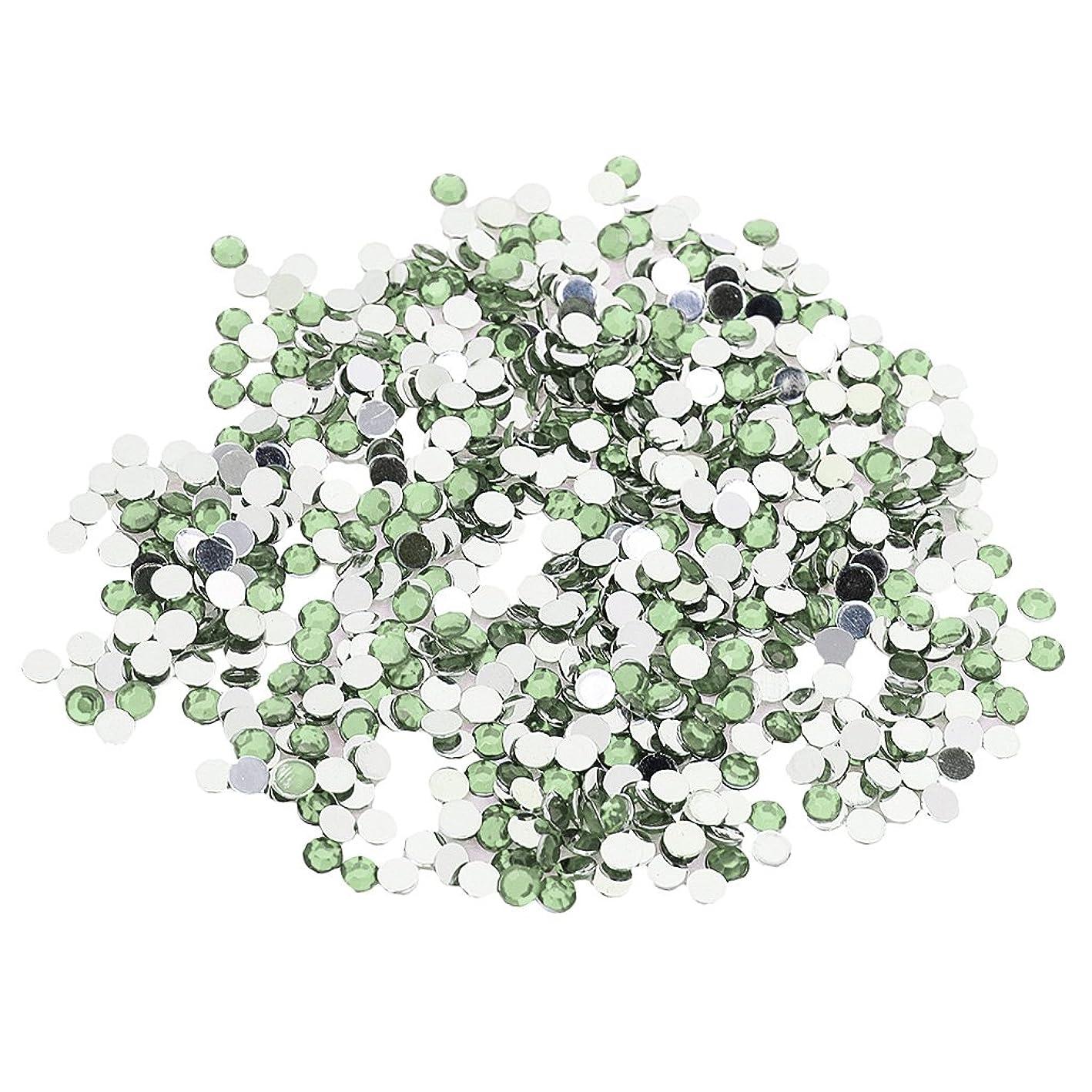 類人猿注意部分約2880個 .4mm ラインストーン 宝石 アクリル 結晶 ビーズ チャーム DIY 手芸用 ネイルクラフト 装飾 全5色選べる - 薄緑, 4ミリメートル