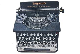 Miniblings Antike Schreibmaschine Bedruckte Brosche Holz Typewriter Texterin –..