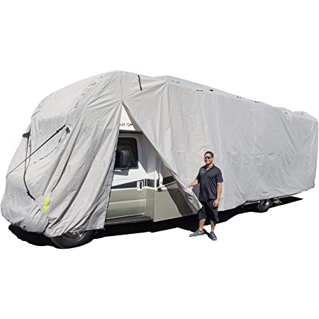 Budge Premier Fifth Wheel RV Cover Fits Fifth Wheel RVs up to 26 Long Gray, Polyproplyene RVRP-41 318 L x 102 W x 108 H