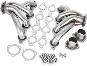 Mophorn Exhaust Header Stainless Steel Manifold Exhaust Block Hugger Headers Fit for Chevy LS1 LS6 Block Hugger (Exhaust Block Hugger Headers for Chevy LS1 LS6)