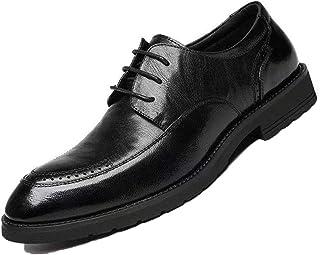 Zapatos Oxford para Hombre, Zapatos de Negocios de Cuero con Cordones, Zapatos de Vestir Formales clásicos para Hombre, pa...