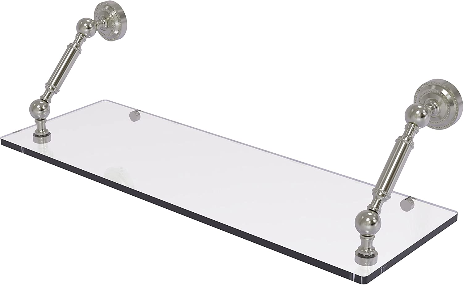 Allied Brass Dottingham Collection 24 Inch Floating Glass Shelf, DT-1-24-SN