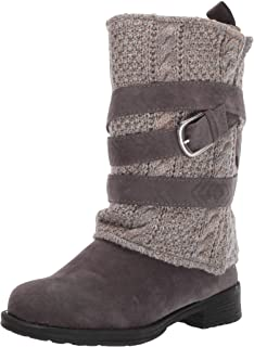 Muk Luks Women's Nikita Boots Mid Calf, Grey/ash, 6 M US