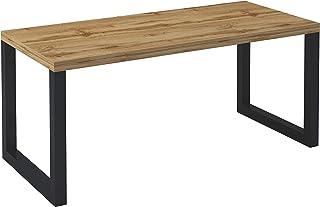 Skraut Home - Table à Manger Fixe 160 cm, modèle Loft pour Salle à Manger et Salon, Couleur chêne foncé, 82x158x77cm.