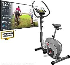 Sportstech ES400 Home Bike -Marca de calidad alemana- Eventos en vivo y aplicación multijugador- Control a través de la aplicación para smartphone - Volante de 10Kg - Bluetooth - Pulsómetro - Soporte para tableta