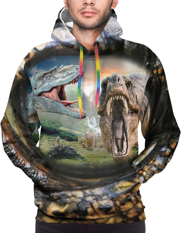 Hoodie For Men Women Unisex Dinosaur World In Eye Double-Sided 3d Sweatshirt Hoodie