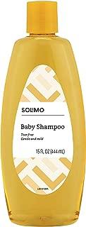 Amazon Brand - Solimo Tear-Free Baby Shampoo, 15 Fluid Ounce