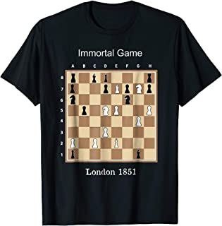 Immortal Game t-shirt gift idea famous chess game